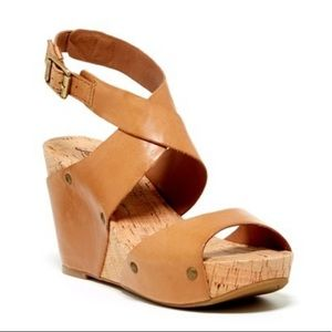 Lucky Brand Moran Platform Wedge Sandal